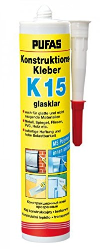 PUFAS Konstruktions-Kleber K15 glasklar 0,3 kg