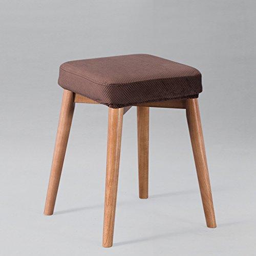 CKH massief houten kruk huis woonkamer dressoir vierkante stoel hoge profiel eenvoudige doek kussen