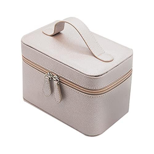 Cabilock Voyage Trousse De Maquillage Portable de Toilette Cosmétique Poche de Maquillage Train Organisateur pour Cosmétiques Brosses Bijoux Rose