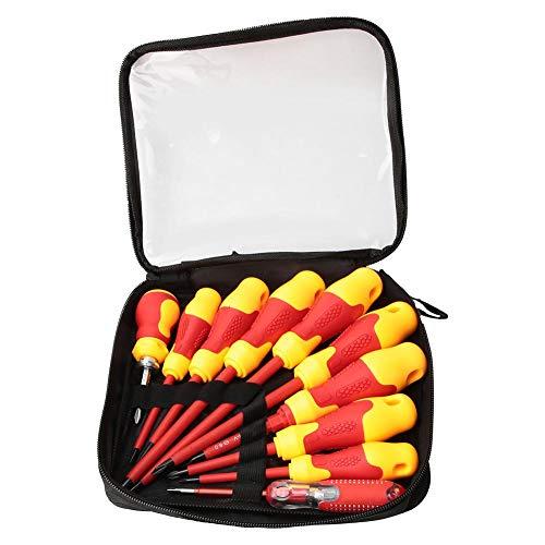 Juego de destornilladores aislados, 10 piezas, juego de destornilladores de electricista profesional para equipos electricistas