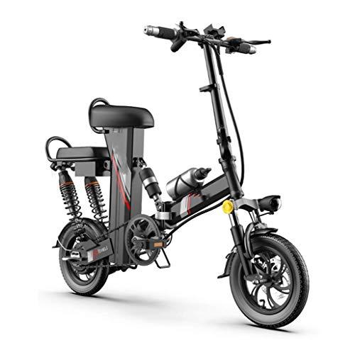 SHIJING Bicicleta eléctrica Plegable de Viaje pequeño Mini Coche de la batería...
