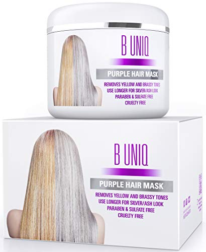 Purple Hair Mask for Blonde, Platinum & Silver Hair - Banish Yellow Hues: Blue...