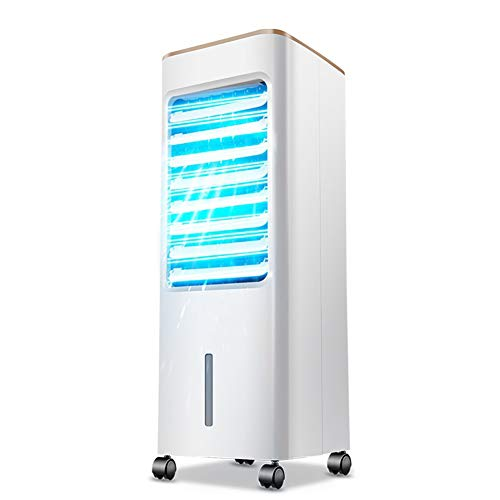 Persönliche Klimaanlage, tragbarer Lüfter der Klimaanlage, 3-in-1-Lüfter mit Luftbefeuchter Purifier Verdunstungskühler mit 3-Gang-Wind 2 Eisboxen für den Innenbereich des Home Office