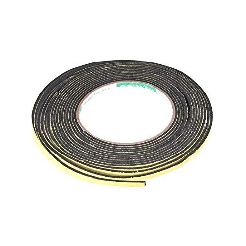 uxcell Dichtungsband aus Schaumstoff, 5 mm breit, 2 mm dick, 5 m lang, selbstklebende Wetterleiste für Fenster und Türen