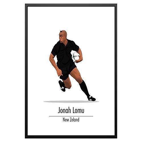 Poster, Motiv: Legendary Signings, Jonah Lomu Neuseeland Rugby