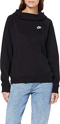 NIKE W NSW Essntl Fnl Po FLC Sweatshirt, Mujer, Black/White, M