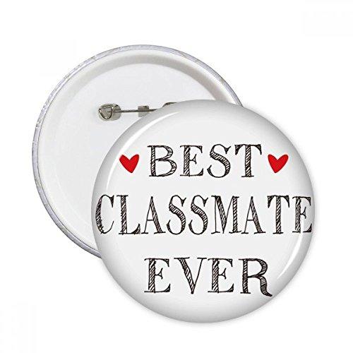 DIYthinker Los mejores compañeros de clase nunca cita de la amistad pernos redondos insignia del botón 5pcs regalo de la decoración Ropa Multicolor XXL