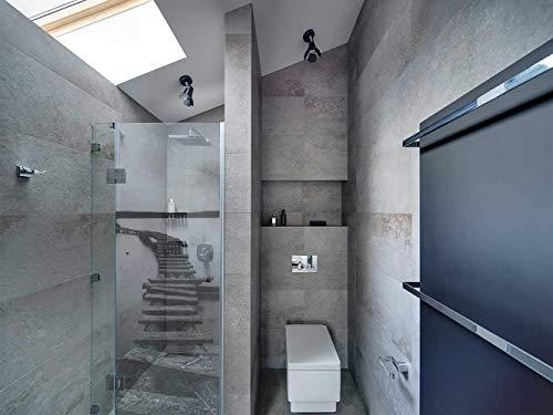 Transparentes Vinyl für Duschwände und Badewannen Brücke und See   Mehrere Maße 200x110cm   Beständiger und leicht aufzutragender Klebstoff Dekorativer Aufkleber Dekoratives Design