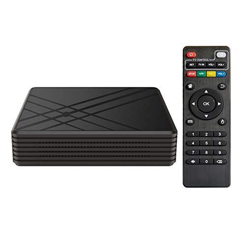 B/C Caja de TV Android, Caja de TV Inteligente de 4GB RAM de 32GB ROM para Android 9.0 Caja de TV, 3D 4k 2.4GHz WiFi TV Android TV con Cable HDMI y Control Remoto