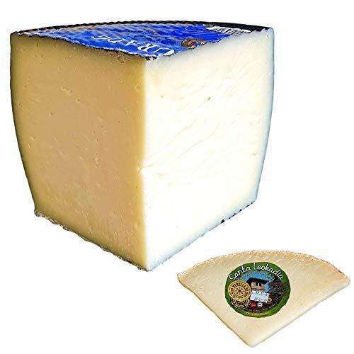 Queso García Baquero Semicurado Mezcla - Incluye Cuña Degustación Queso de Oveja Curado de REGALO - Cuarto de Queso Queso Semicurado Peso Aproximado 800 gramos - Elaborado con leche pasteurizada