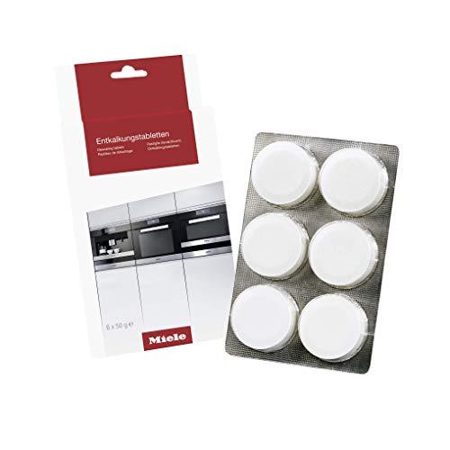 Miele Original Zubehör Entkalkungstabletten / 6 Stück / für Kaffeevollautomaten, Dampfgarer, FashionMaster, Backofen, Herd