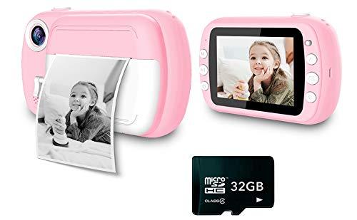i-Paint P9 - Cámara instantánea para niños, impresión B/N sobre papel térmico,...