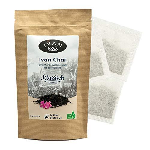 Ivan Chai - Klassisch | 24 Beutel | Entspannungstee | Fermentierter Weidenröschen Tee in Beuteln | Premium Qualität |Wild & Handverarbeitet