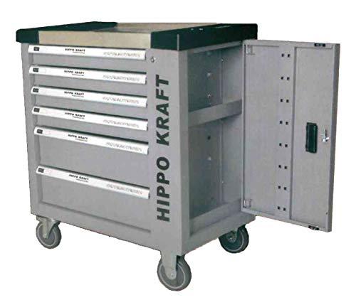 Carro de herramientas de taller profesional con puerta lateral y 155 pzs herramientas reales incorporadas