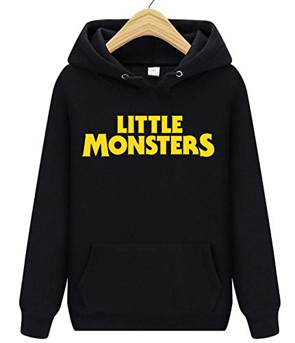 Little Monsters Unisex Herren und Damen Kapuzenpullover Gr. Large, Schwarz