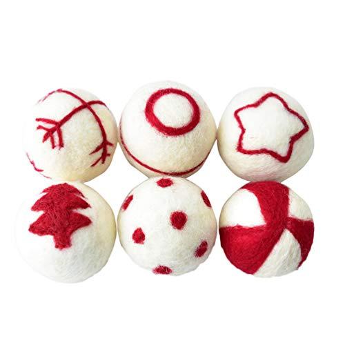 Happyyami 6 pz Palle di Natale Ornamenti Decorazione Albero di Natale bagattelle Ciondolo Appeso Vacanza per Negozio di caffè a casa