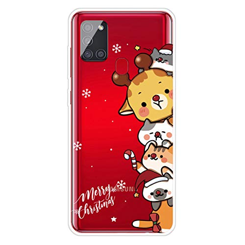Keteen Funda para Samsung Galaxy A21S, Navidad Cute Dibujos Diseño Case Suave TPU Transparente Ultrafino Silicona...
