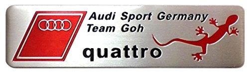 『Audi Sport quattro アウディ クワトロ 金属ステッカー』のトップ画像