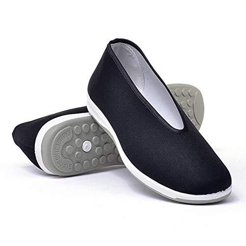 SEHUNN Zapatos Kung Fu, Zapatos De Karate para Artes Marciales De Tai Chi, Zapatos Transpirables De Kungfu, Zapatillas De Entrenamiento para Correr Los Hombresblack-46