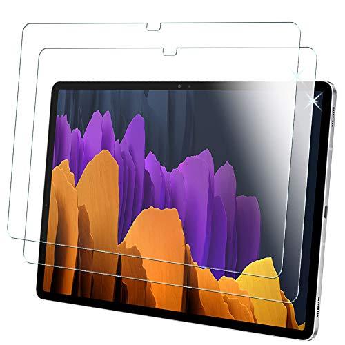 TECHGEAR [2 Piezas] Vidrio Compatible con Samsung Galaxy Tab S7+ 12.4' 2020 (SM-T970 / SM-T975) Protector de Pantalla Vidro Templado [Dureza 9H] [Alta Definición][Resistente arañazos] [Sin Burbuja]