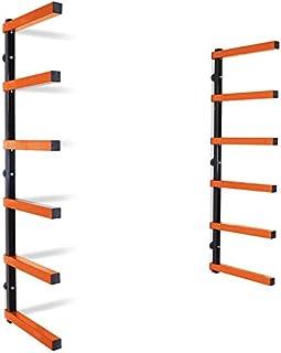 Best TITAN GREAT OUTDOORS Lumber Storage Rack Board Basement Storage Wall Mounted Indoor Outdoor Rack 600 lb Capacity Review