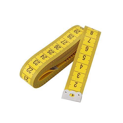 Cinta métrica de cuerpo lateral, 3 M 120 pulgadas, amarillo