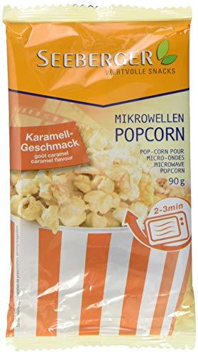 Seeberger Mikrowellen-Popcorn Karamell-Geschmack, 25er Pack (25x 90 g)