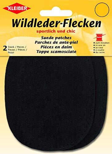 Kleiber + Co.GmbH Wildlederflecken Klein, echt Leder, schwarz, ca. 12,5 cm x 10 cm