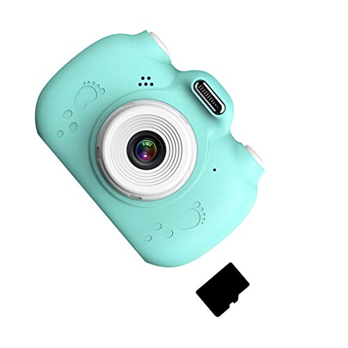kexinda Niños cámara Digital de 2,4 Pulgadas de Pantalla LCD Recargable niños de videocámara de Tarjeta de Memoria 16G, Azul