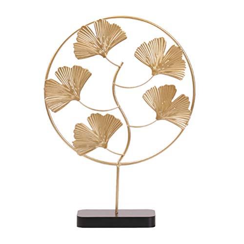 BESPORTBLE Eisen Goldene Ginkgo Blätter Dekoration Desktop Ornament Simulation Metall Skulptur Handwerk Dekoration (Golden)