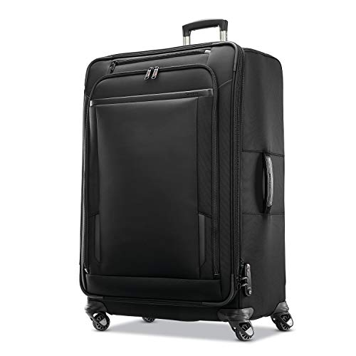 Samsonite Pro Travel Softside Expandable Luggage with Spinner Wheels, Black, Checked-Large 29-Inch