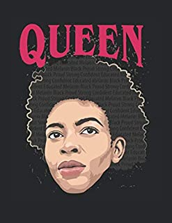 """Black Queen American Pride Dashiki Civil Rights: College Ruled Notebook Paper and Diary to Write In / 120 Pages / 8.5""""x11"""""""