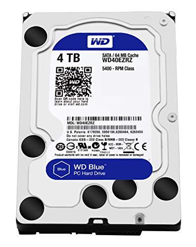 Western Digital Blue™ 4 TB Disque Dur Interne 8.9 cm (3.5) SATA III WD40EZRZ Vrac