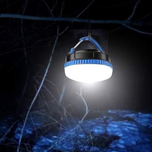 Jarchii Luz de Campamento portátil Colgante, luz LED de Tienda, lámpara LED magnética para Camping, Picnic, Pesca Nocturna, Ciclismo(Blue)
