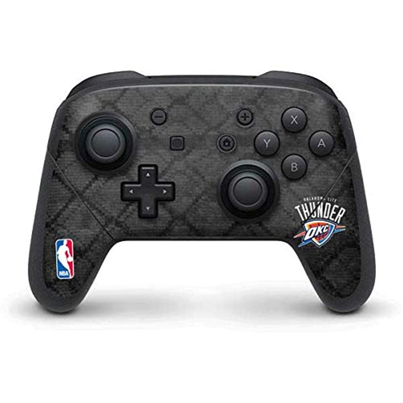 Skinit Oklahoma City Thunder Dark Rust Nintendo Switch Pro Controller Skin - Officially Licensed NBA Gaming Decal - Ultra Thin, Lightweight Vinyl Decal Protection