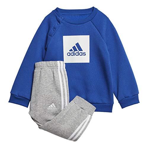 adidas Kinder 3-Streifen Logo Trainingsanzug, Royblu/White, 98