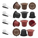 1/3 piezas reutilizables recargables para cápsulas de café con 1 cuchara de plástico para filtros de línea originales (color : juego D)