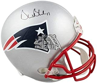 Drew Bledsoe Autographed Signed New England Patriots Full-Size Football Helmet BAS COA - Authentic Memorabilia