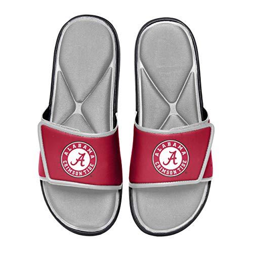 NCAA Alabama Crimson Tide Mens Deluxe Foam Sport Shower Slide Flip Flop SandalsDeluxe Foam Sport Shower Slide Flip Flop Sandals, Team Color, Large/ Mens Size 11-12