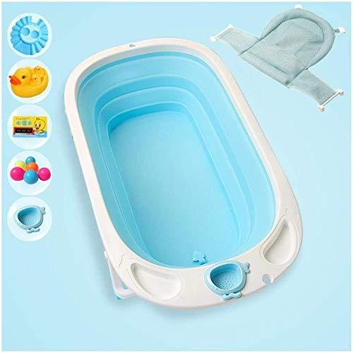 Klappbare tragbare Badewanne, Badewanne Faltbare Badewanne for Duschkabine, Easy No Inflate installierten 83 * 47,5 * 23cm (Farbe: blau), Farbe: Rosa (Color : Blue)