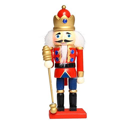 Ingeniously Soldat Holz Nussknacker Festliches Dekor Perfekt für Regale Und Tische Süße Figur Plüsch Puppe Tisch Ornament Für Kinder Schlafzimmer Weihnachtsdekoration