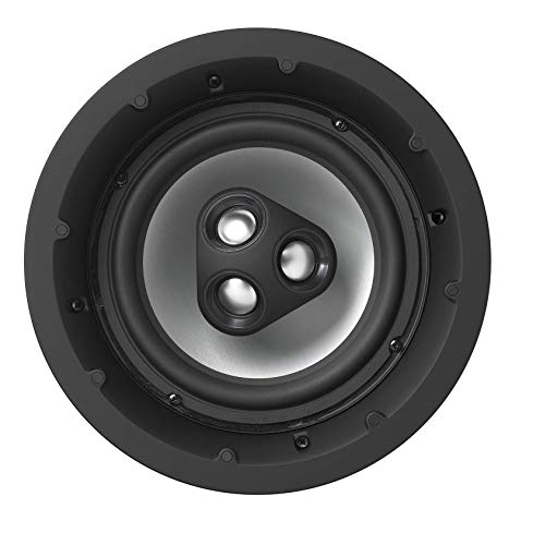 NHT Audio iC4-ARC 2-Way 8-inch Premium In-Ceiling Speaker | Aluminum Drivers, 150 Watts | Patented Three-tweeter Array | Single, Matte White