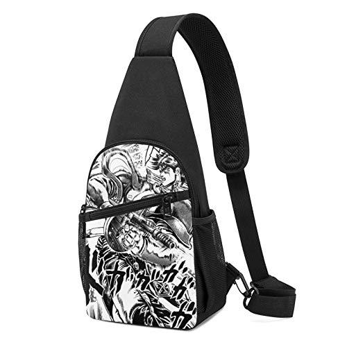 JoJo's Bizarre Adventure Chest Bag Men's Women's Sling Bag Sport Hiking Cycling Sling Backpack Multi-Pocket Shoulder Bag Daypack