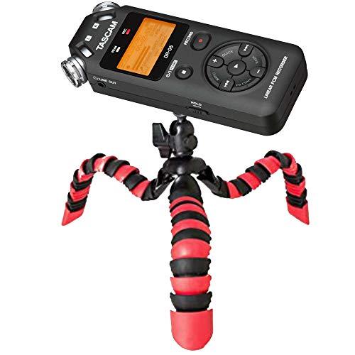 TronicXL Profi TRIPOD 1 Flexibles Stativ Diktiergerät Audiorekorder Aufnahmegerät 1/4 Zoll zb kompatibel für Roland Philips Tascam Sony Olympus Zoom H4n Pro H5 H6 mobile Recorder H2n Halterung