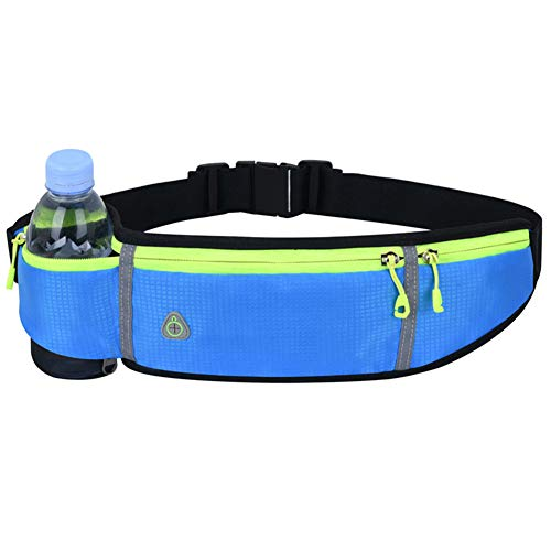 JKHK Bum Bag,Water Resistant Running Waist Pack withAnti-Theft Zipper, Large Capacity Running Belt with Headphone Hole for Gym Workouts, Exercise, Cycling, Walking, Travel & Outdoor Activities