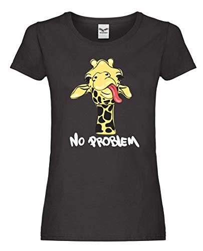 T-Shirt - Kein Problem Giraffe Kopf - Tshirt für Damen und Frauen