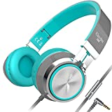 Elecder i39 Headphones with Microphone Foldable Lightweight Adjustable On Ear Headsets with 3.5mm Jack for Cellphones...