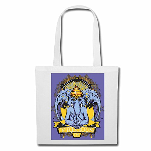 sac à bandoulière ELEPHANT PRÉCIEUX AVEC COURONNE Lifestyle Mode STREETWEAR HIPHOP SALSA LEGENDARY Sac Turnbeutel scolaire en blanc