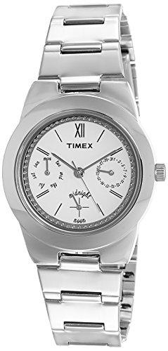 Timex Fashion - Reloj de Pulsera para Mujer, Esfera Blanca, Color Blanco