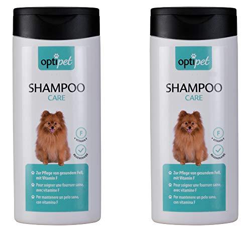 MARTEC Optipet Hundeshampoo (2x250ml) mit Vitamin F für Hunde - pflegt das Fell - Nährt und pflegt die Haarwurzeln Ihres Hundes
